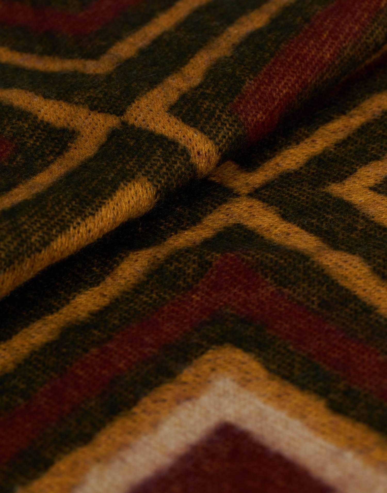 Jacquard blanket scarf