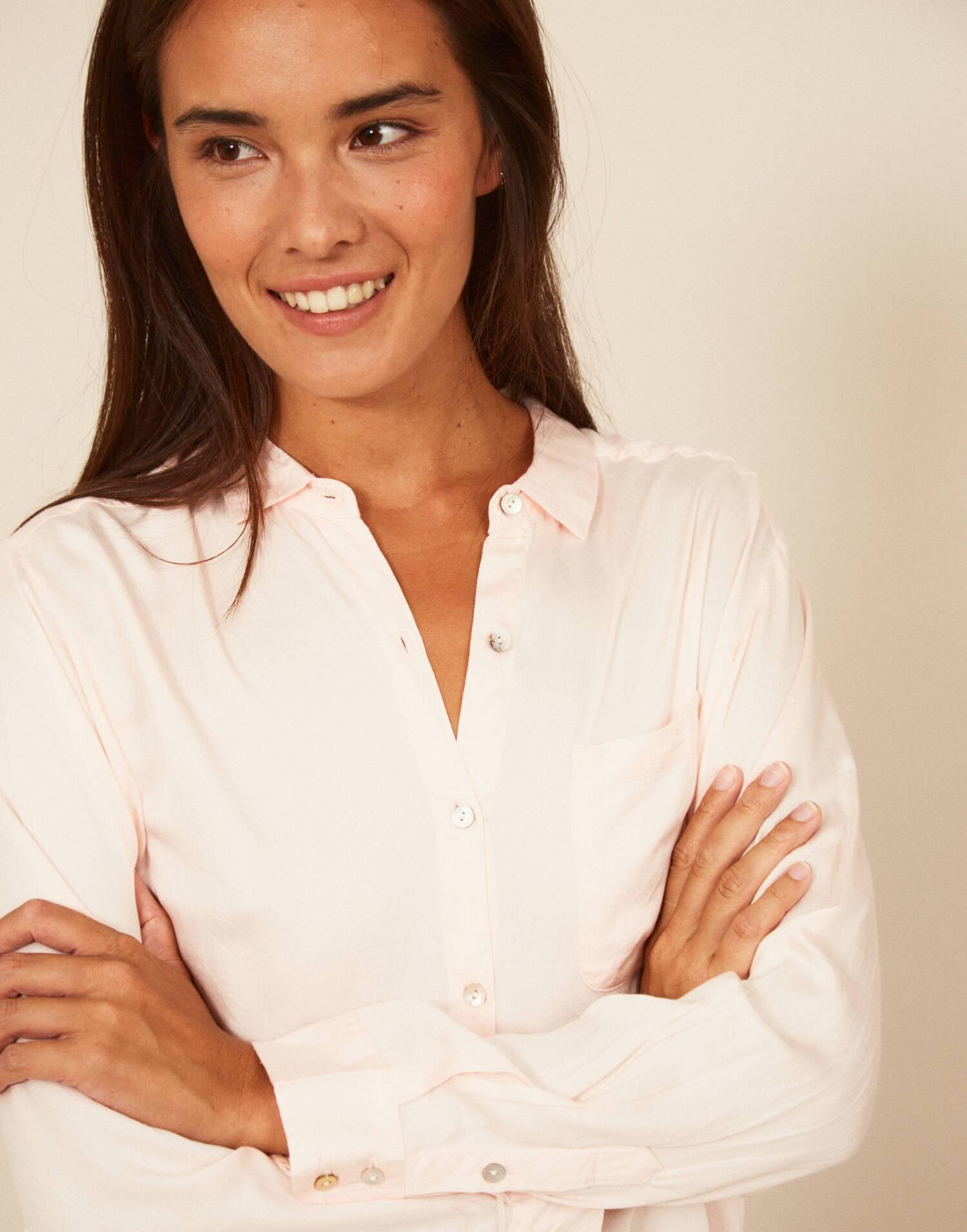 Silky long sleeve shirt