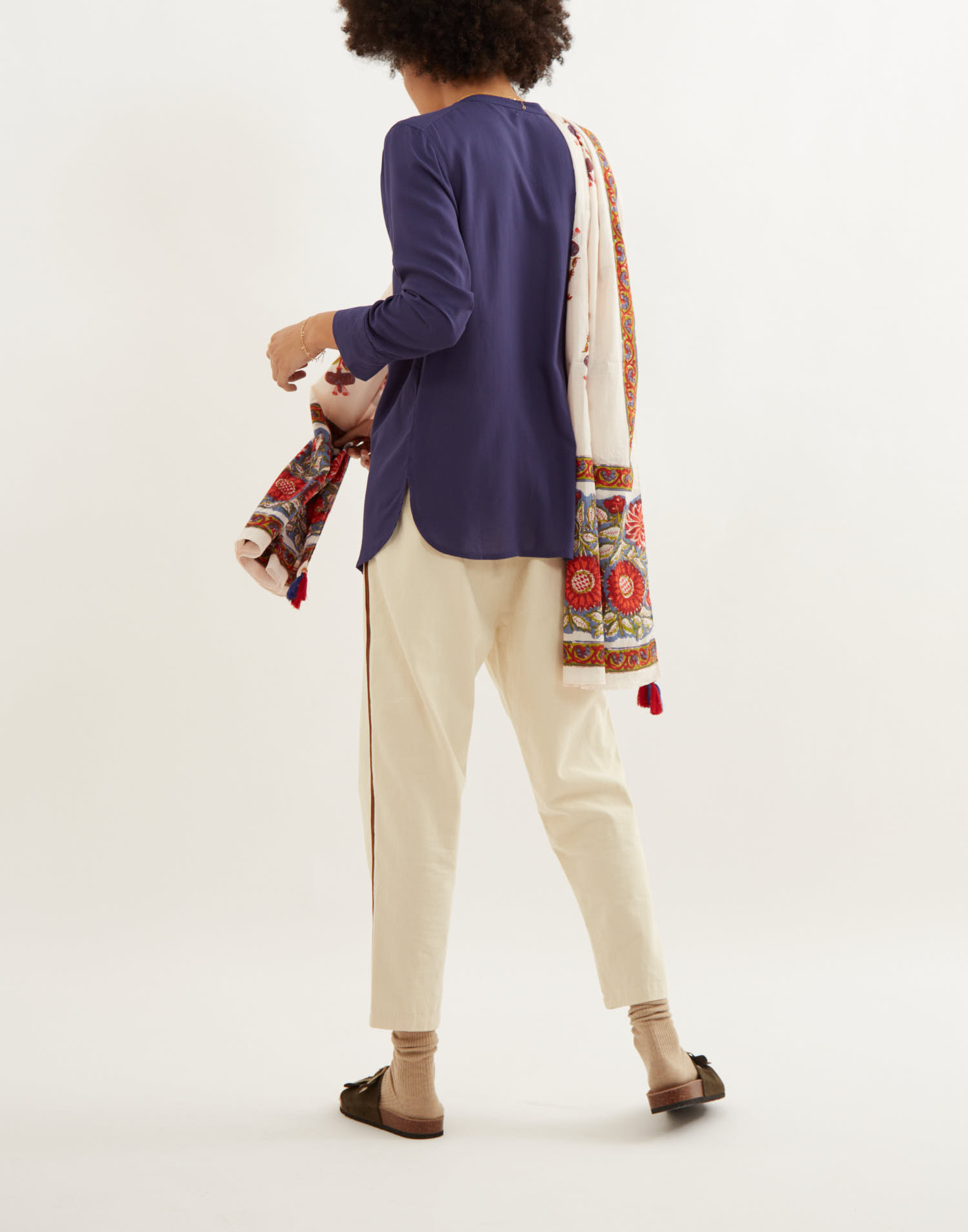 Floral cotton foulard