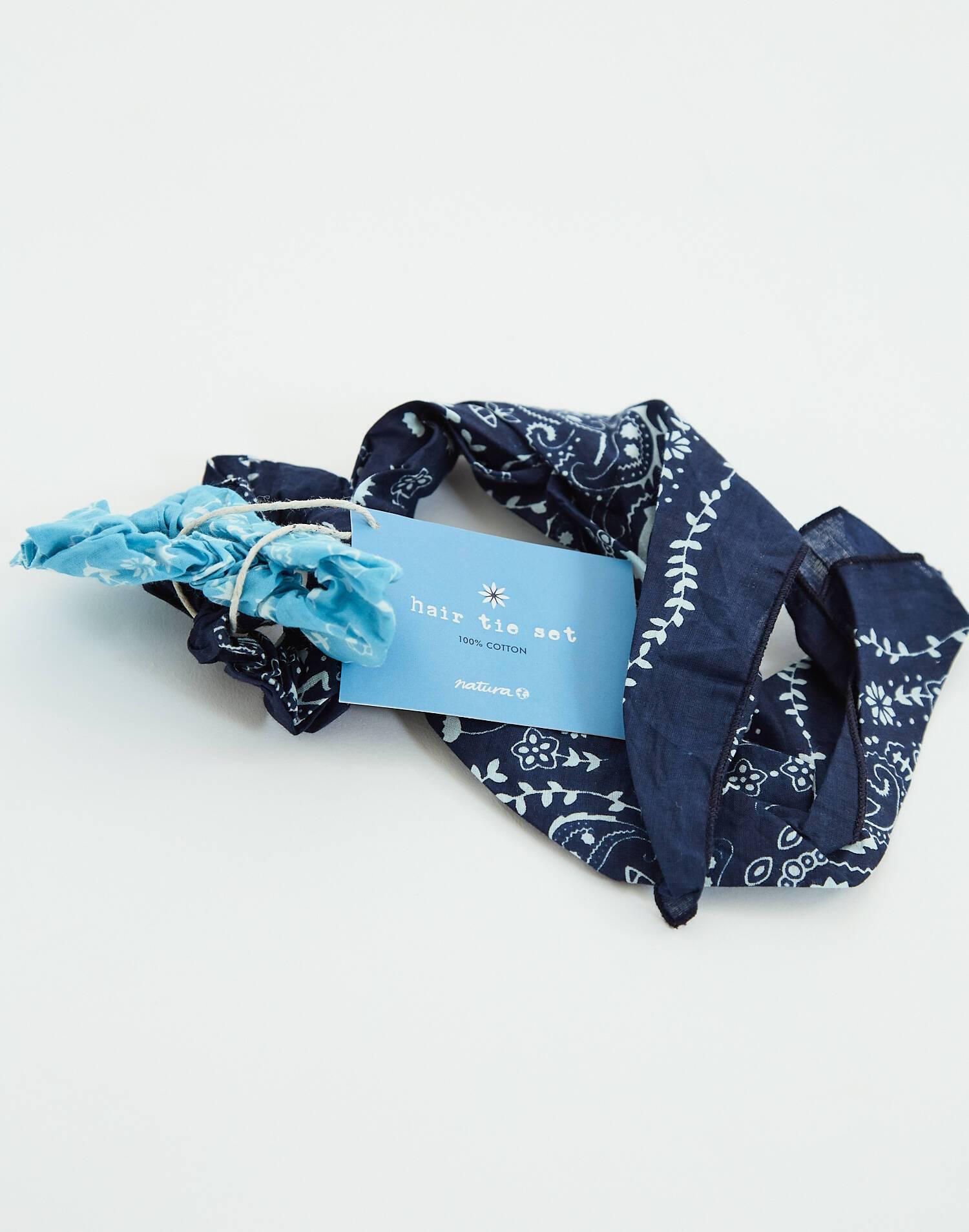 Bandana scarf scrunchie set