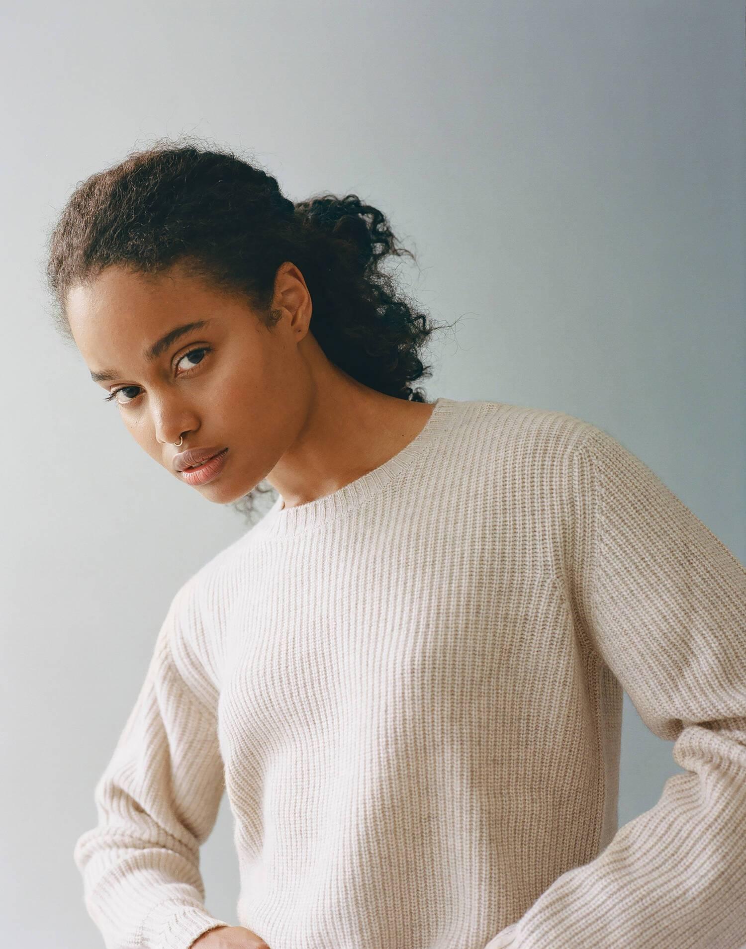 Jersey cuello redondo cashmere
