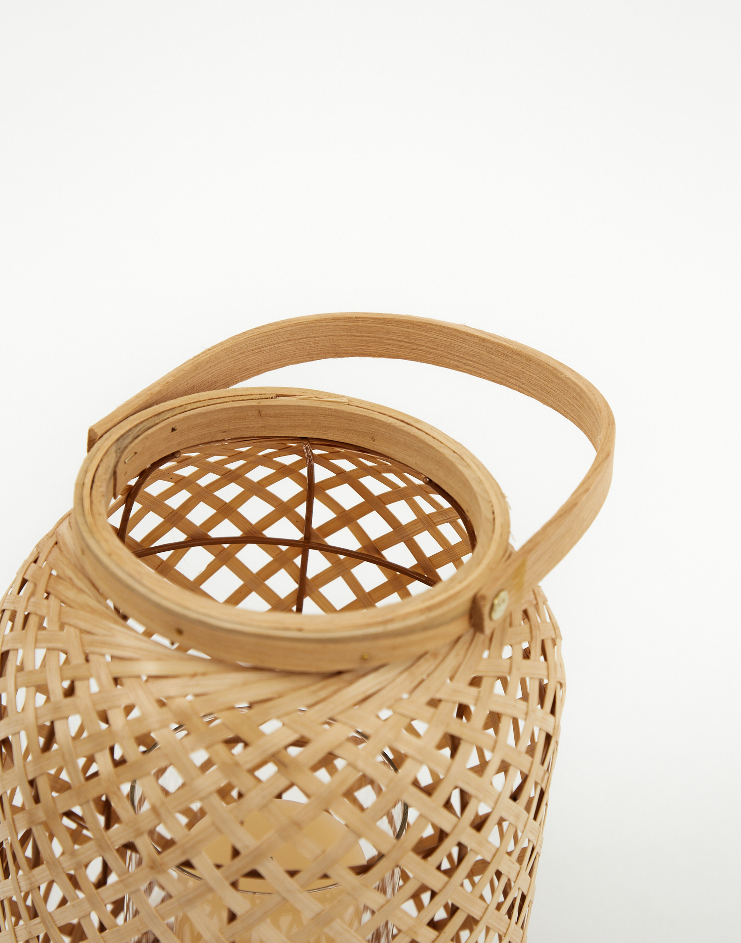 Bamboo candle holder small
