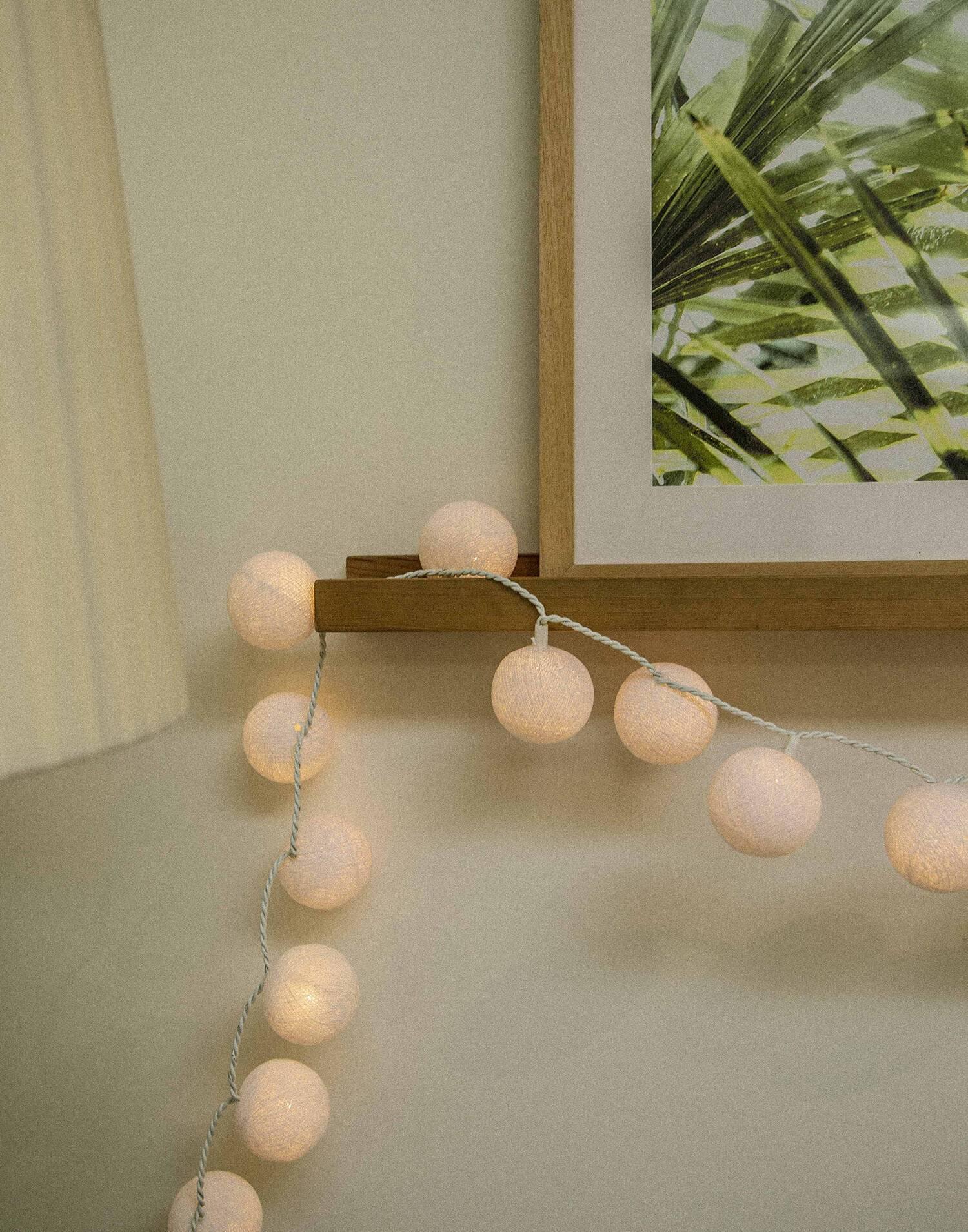 Guirlande lumineuse boules