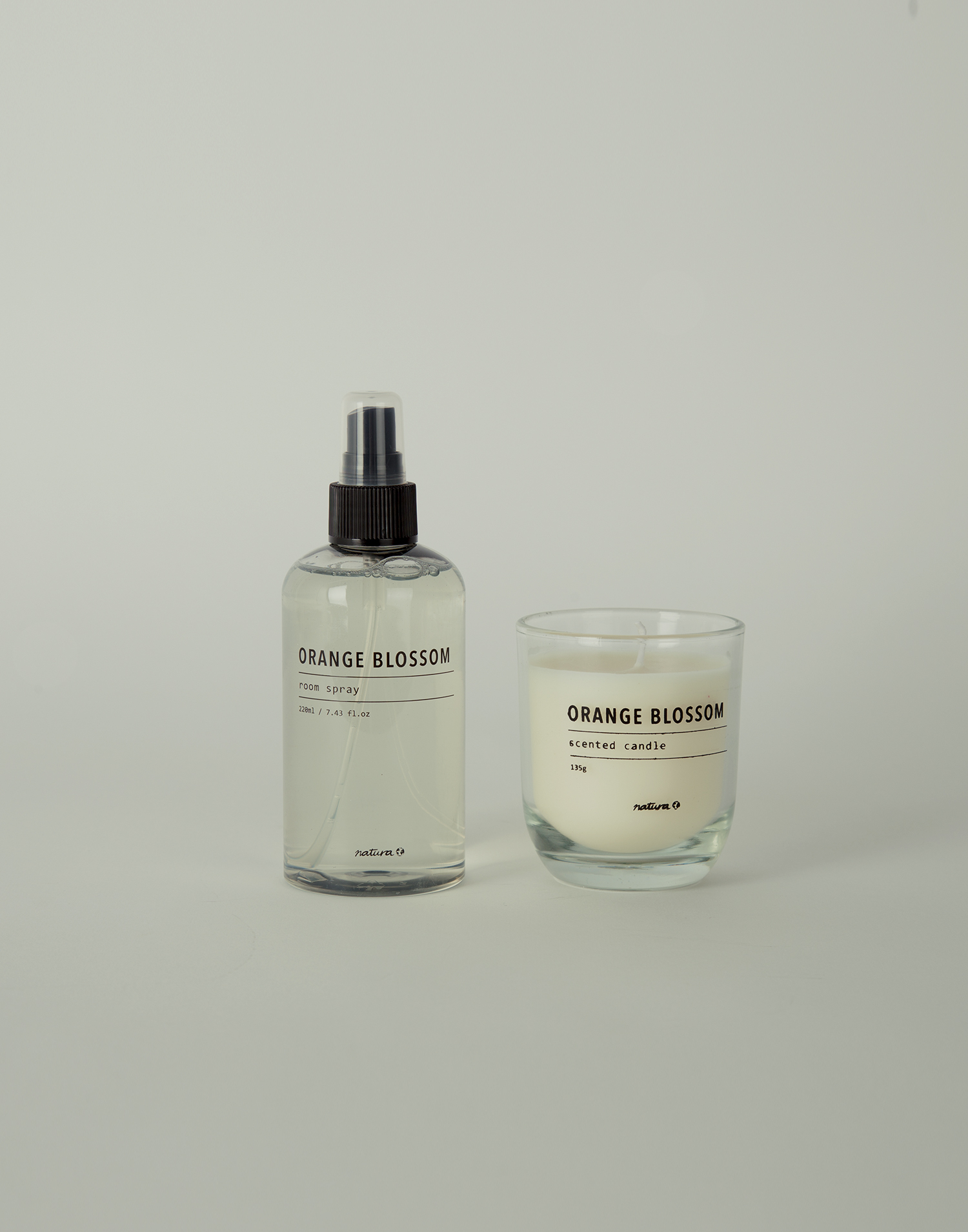 Candle and room spray set