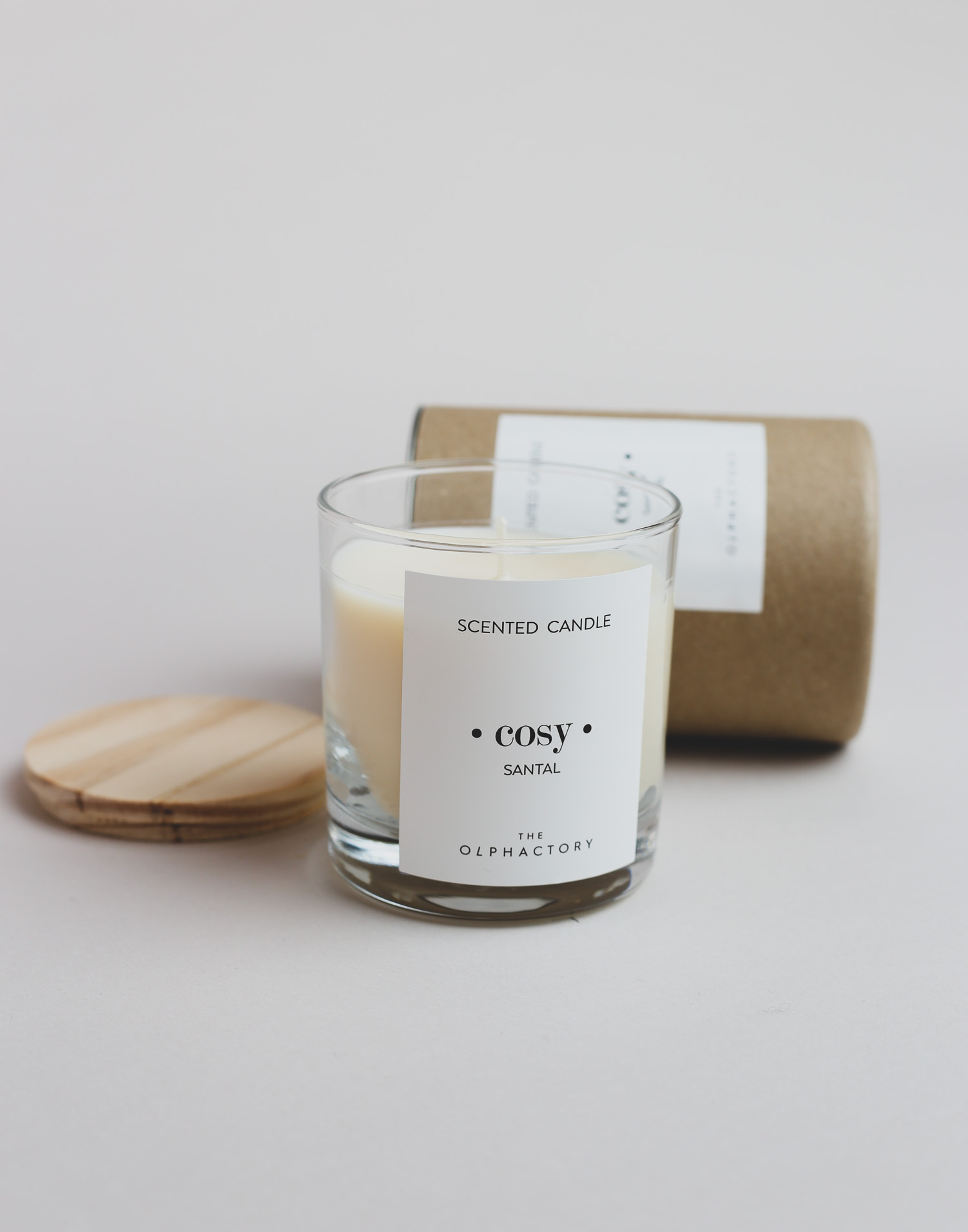 Vela vegetal perfumada vaso