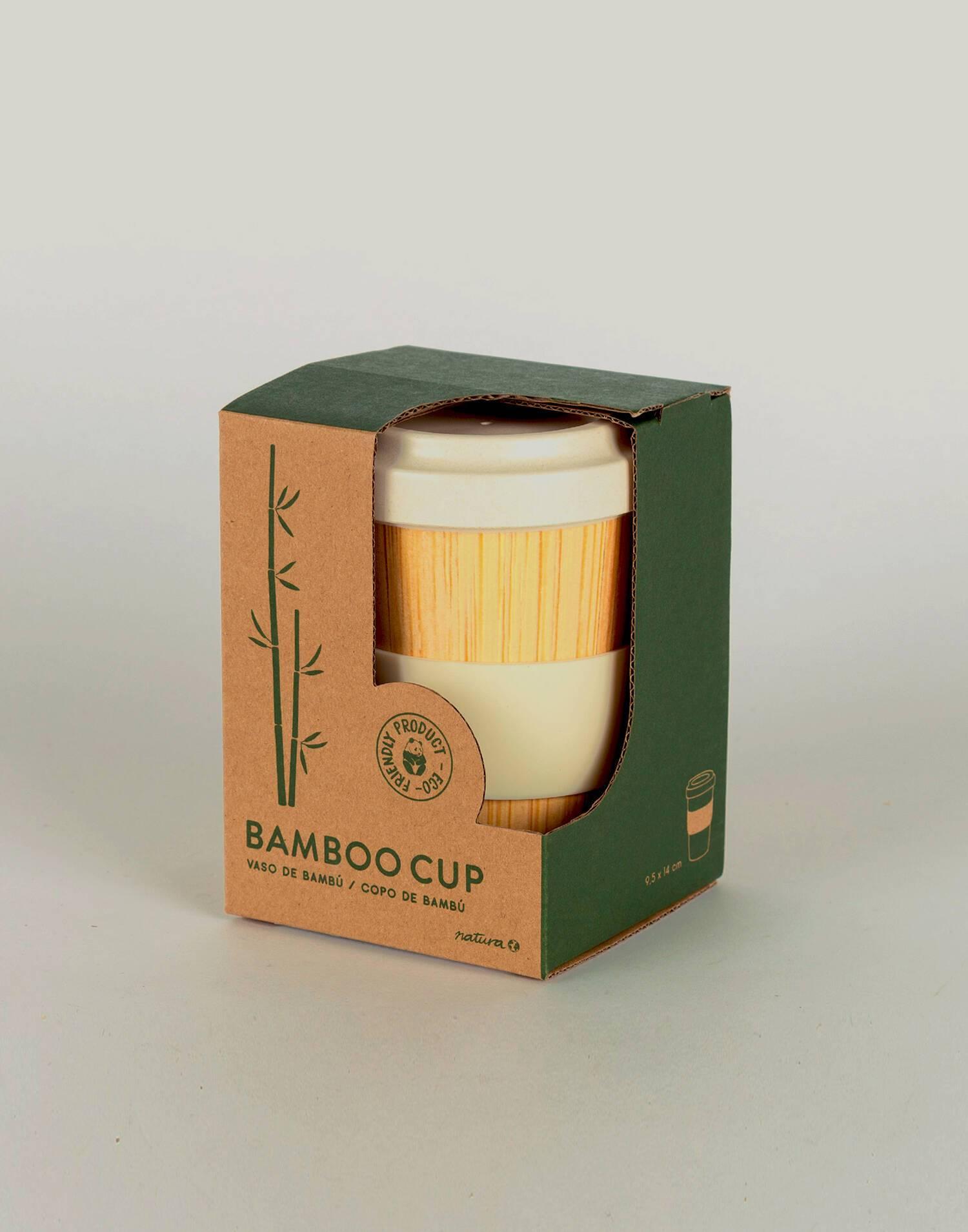 Reusable bamboo cup