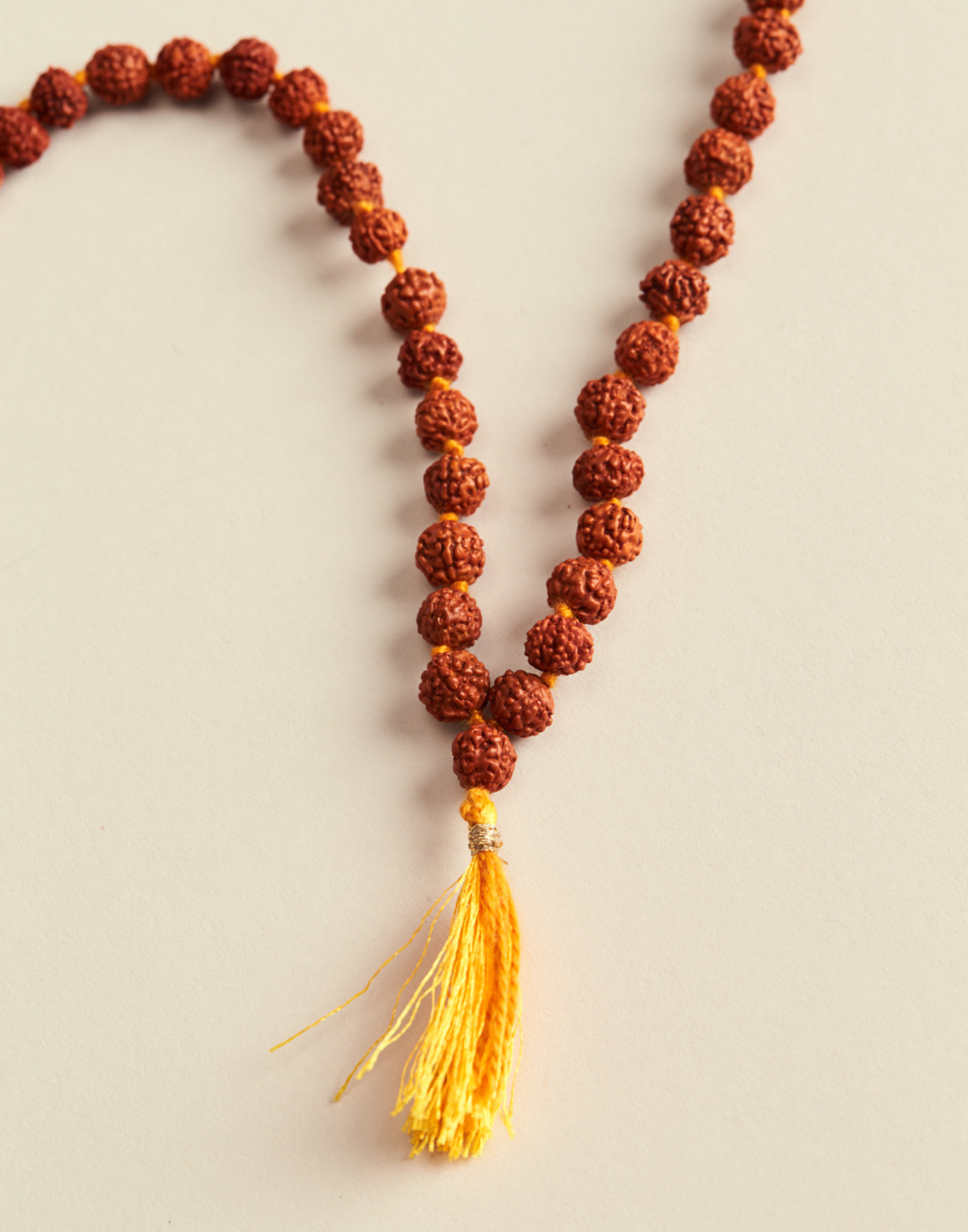 Mala rudraksha necklace