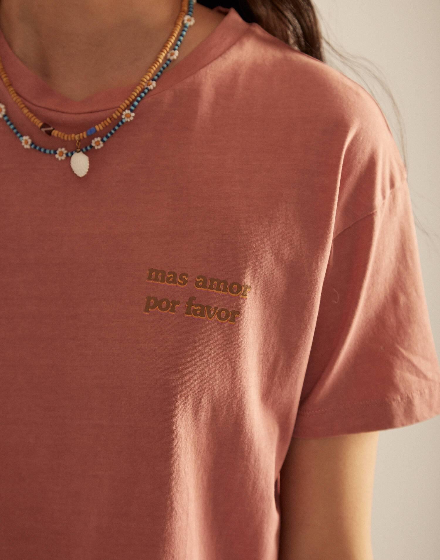 """Bio t-shirt """"más amor por favor"""""""