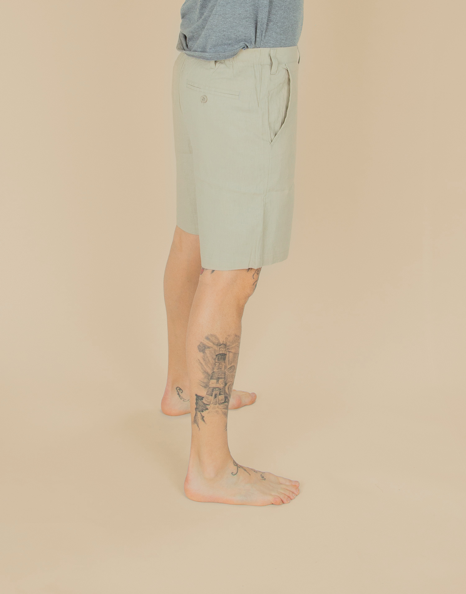 Linen men bermuda shorts