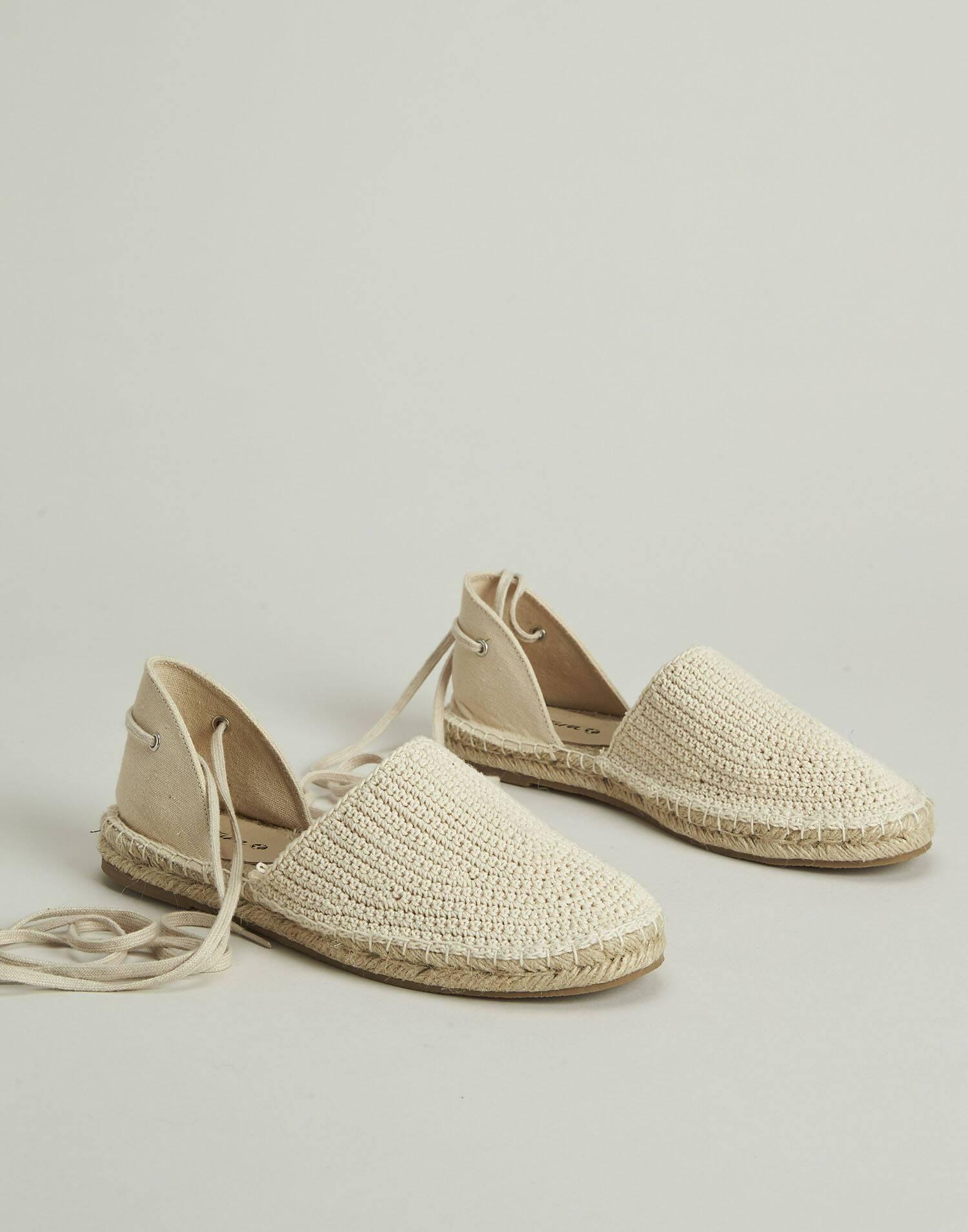 Cotton tied espadrille