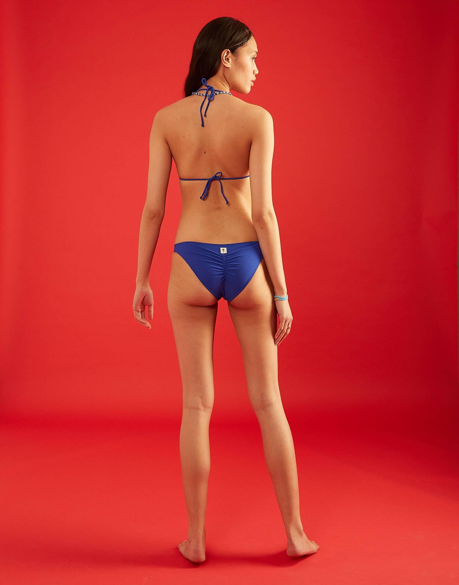 Top bikini triangular liso