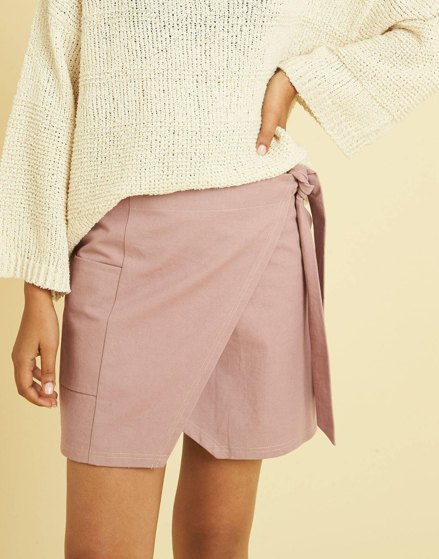 WRAP SKIRT WITH POCKET