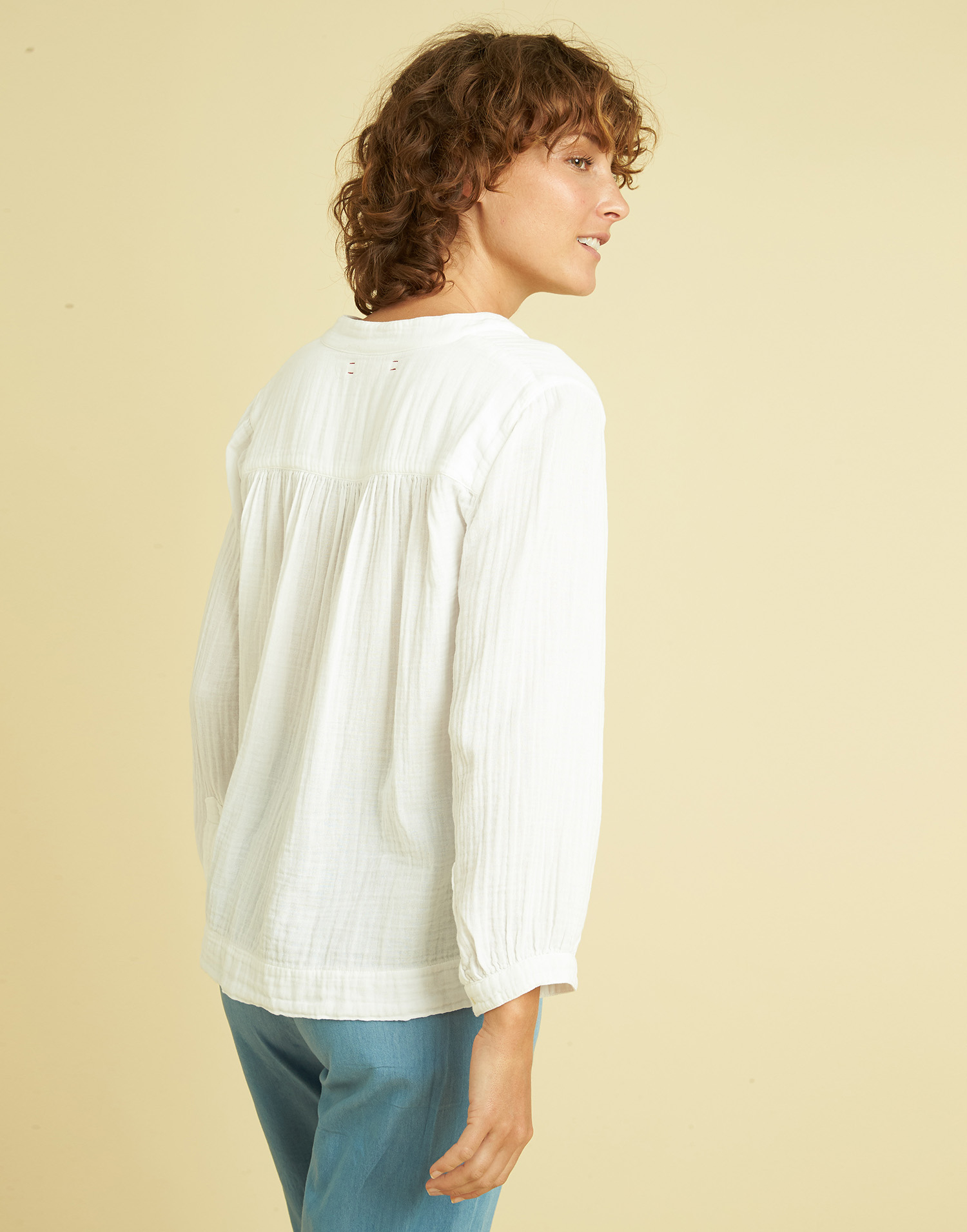 COTTON LONG SLEEVE BLOUSE